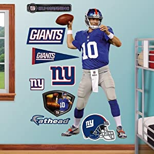 NFL New York Giants Eli Manning Home Wall Graphics by Fathead