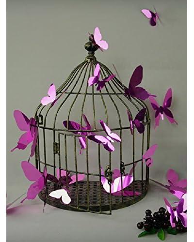 Ambiance Live Vinile Decorativo 12 pezzi 3D Butterflies – Mirror