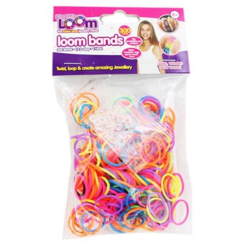 Loom Bands Bunte Kit - Armband DIY Kit - Neon Bands