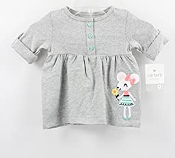 Carter\'s Baby Girl Grey Mouse Pullover (9 months)