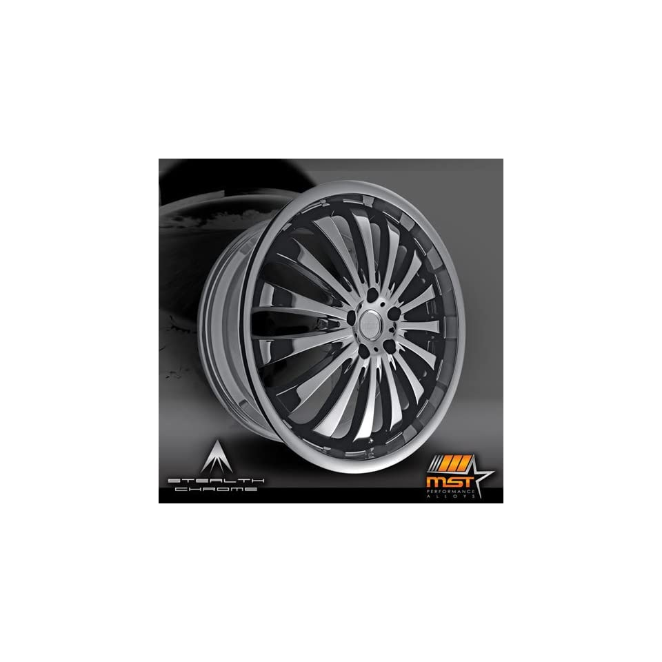 MST 593 20 Black Chrome Wheel / Rim 5x100 with a 42mm Offset and a 70.64 Hub Bore. Partnumber 593 27580