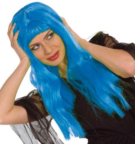 E826-001 - Perücke Lilli blau