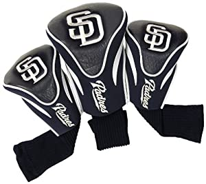 MLB San Diego Padres Contour Head Cover (Pack of 3), Navy by Team Golf