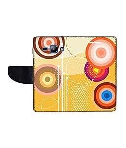 KolorEdge Printed Flip Cover For Samsung Galaxy J1 Multicolor - (1476-45KeMLogo12391SamJ1)