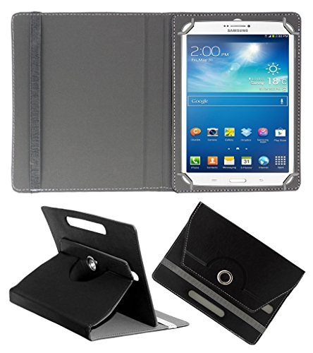 Acm Rotating 360° Leather Flip Case For Samsung Galaxy Tab 3 T311 Tablet Cover Stand Black  available at amazon for Rs.159