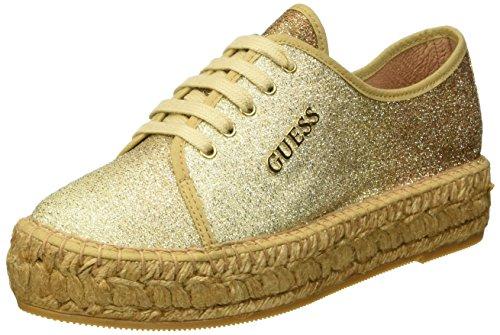 Guess Glitter Fabric - Sneaker basse Donna, Oro, 39