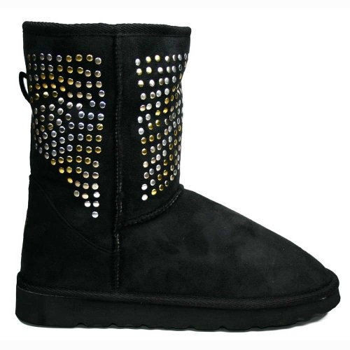 Ella Women's Studded Short Studded Ankle Boots UK8 - EU41 - US10 -AU9
