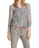 ESPRIT Damen Regular Fit Bluse Chiffon mit Print