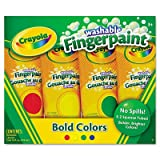 Crayola 4ct Washable Fingerpaints Primary