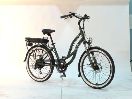EG Maui 350 EX Beach Cruiser Step-thru Electrc Bike - Green