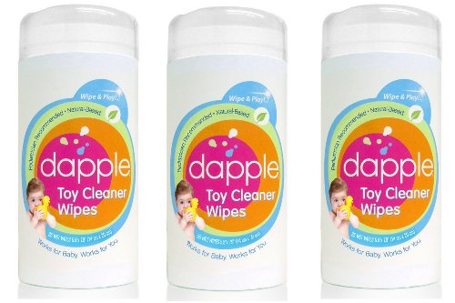 Dapple pediatrician recommended & Natural Based Toy & Surface Cleaning Wipes, 35 Count (Pack of 3)