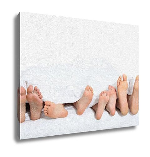 Ashley Canvas, Closeup Of Family Feet In Bed, 20x25 (Ashley Bed Parts compare prices)