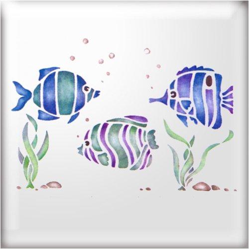 the-stencil-studio-tropical-fish-border-stencil-reusable-stencil-size-extra-small-a5-10441xs