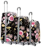 Rockland Luggage Vision Polycarbonate 3 Piece Luggage Set, Pucci, One Size