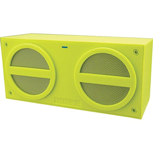 Ihome Ibt24Qc Bluetooth Rechargeable Stereo Mini Speaker In Rubberized Finish (Green)