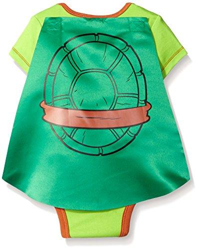 Teenage Mutant Ninja Turtles Baby Boys' Bodysuit with Cape, Green, 6-9 Months