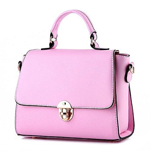 koson-man-womens-pu-leather-vintage-beauty-buckle-tote-bags-top-handle-handbagpink