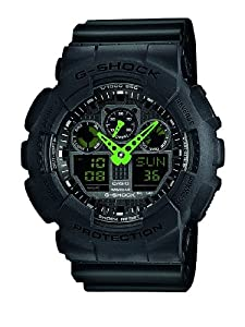 Casio Herren-Armbanduhr XL G-Shock Analog - Digital Quarz Resin GA-100C-1A3ER