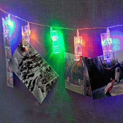 HANGQI 20LED Photo Peg Clip String Light Party Wedding Decor