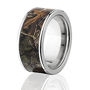 RealTree Xtra Official Camouflage Ring, Titanium Camo Rings