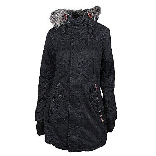 Khujo Ester giacca invernale nera, Frauen:XXL