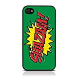 iPhone 4S / iPhone 4 Comic Capers SHAZAM Green/Red/Yellow Hard Back Cover Case / Shell / Shieldby Call Candy
