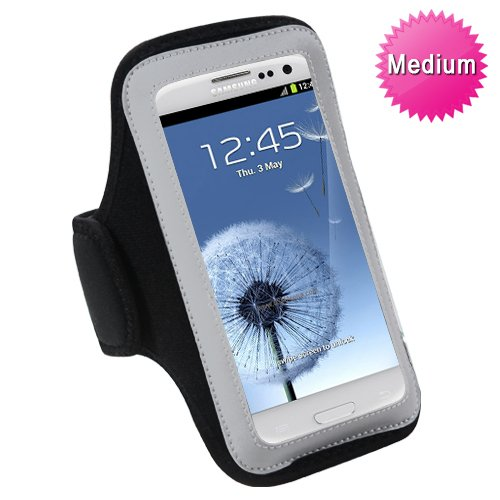 Mybat UNIVP251NP Sport Armband Case for Cell Phones and Smartphones - Retail Packaging - Black
