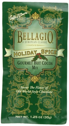 Bellagio Holiday Spice Cocoa, 1.25-Ounce Packets (Pack of 25)
