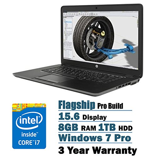HP ZBook 15.6 Inch Full HD Laptop PC Flapship Edition Intel Core i7-5500U Dual-Core AMD FirePro M4170 (1GB GDDR5 Dedicated Video) 8GB 1TB Backlit Keyboard 3 Year Warranty Windows 7 Professional (Ultrabook Windows 7 compare prices)