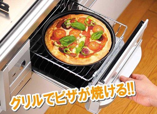 お手入れ簡単 グリル用ピザ焼きトレー