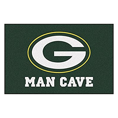 FANMATS 14305 NFL Green Bay Packers Nylon Universal Man Cave Starter Rug