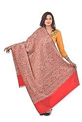 Weavers Villa - Womens Red Woven Kashmiri Woolen Shawls , Stoles