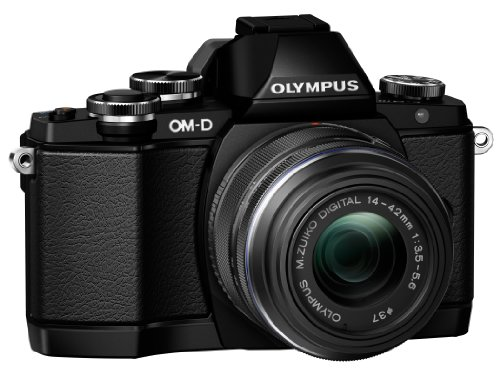Olympus OM-D E-M10 Compact System Camera with 14-42mm 2RK Lens (Black)