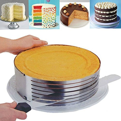 Astra shop Adjustable Layer Cake Slicing Kit /Cake Ring Set / Cake Ring Mold / Cake Layer Pans Cake, Cake Ring Cutter, Mousse Cake Ring, Carousel Cake Kit (Bread Lifter compare prices)