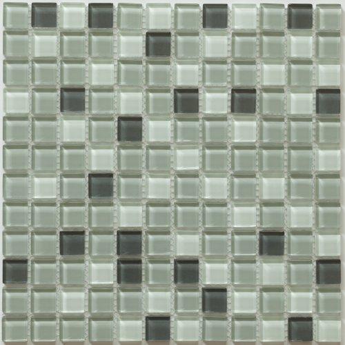 Glass Mosaic TILE for Bathroom, Kitchen, Backsplash, Wall - Piazza Series, Pebble Creek (Sample)