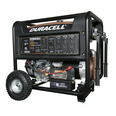 Duracell Duracell DG67M-B62 Gasoline Powered Generator with Kohler Electric Start Engine Recoil Start Backup, 8000W