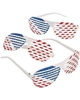 Fun Express Patriotic Shutter Shading Glasses (1 Dozen)
