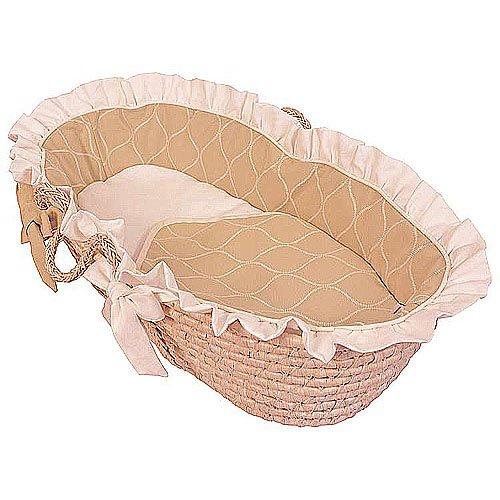 Hoohobbers Ruffled Moses Basket, Ecru