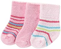 Gerber Baby-girls  3 Pack Bootie Socks, Pink, 3-6 Months