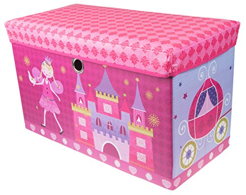Fairytale Princess Castle Collapsible Cushion-Topped Organizer - Pink and Purple (Princess Organizer compare prices)