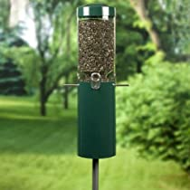 Birds Choice Classic Bird Feeder with Built In Squirrel Baffle and Pole - Green