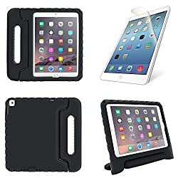 iPad Air 2 Kids EVA Case: Shockproof Protection for Apple iPad Air 2(6th Generation),Not Fit iPad Air 1,(Black) + High Clear Screen Protector Film