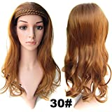 """2015 Hot Sale New Curly Hair Wigs Double Braided Topknot Semi Nested Wig Tablets / High Temperature Fiber Clip in Hair Half Piece 22"""" (30#)"""