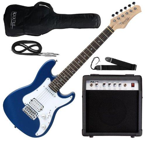 rocktile sphere junior guitare el ctrique bleu set avec. Black Bedroom Furniture Sets. Home Design Ideas