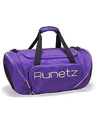 Runetz - PURPLE Gym Bag Athletic Sport Shoulder Bag For Men & Women Duffel 20-inch Large - Purple