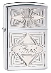 Zippo Ford Trucks Pocket Lighter, Street Chrome