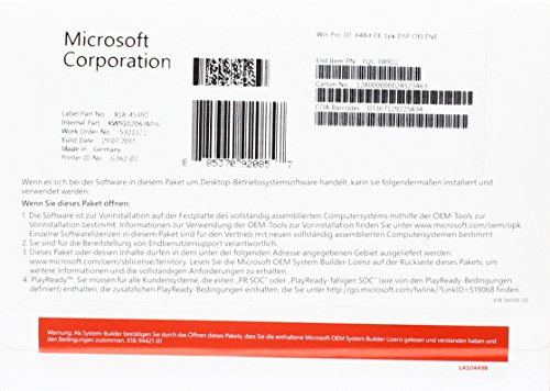 Microsoft Windows 10 Pro PDF
