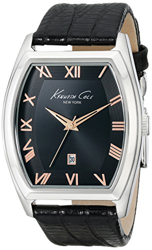 Kenneth Cole Leather Black Dial Men's Watch #KC8013