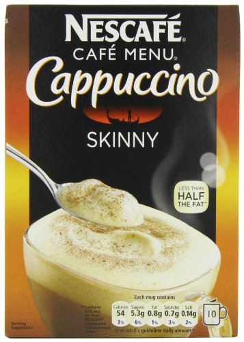 Nescafe Cappuccino Skinny Unsweetened 10 sachets (Pack of 6, Total of 60 sachets)