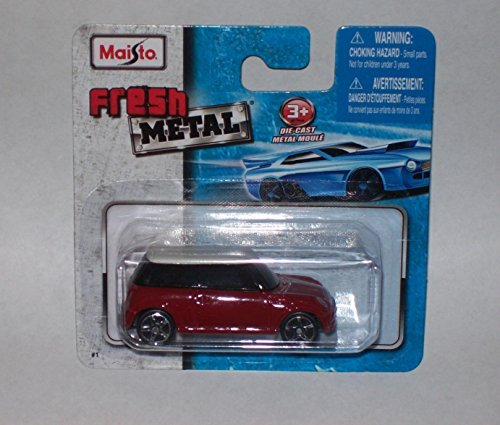 Maisto Fresh Metal Die-Cast Vehicles ~ Mini Cooper Red / White - 1